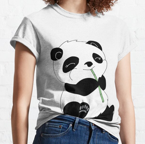 Kids Youth Rainbow and Panda Art Customized Short Sleeve T-Shirt Tee for Girls Black