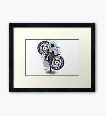 Clock Rabbit Framed Print