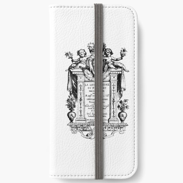 Cover Art from La liberazione di Ruggiero (1625) by Francesca Caccini iPhone Wallet