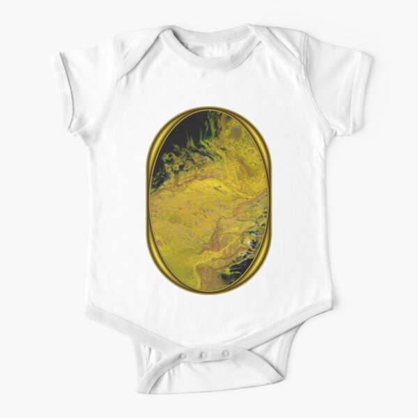 River of Gold Short Sleeve Baby One-Piece