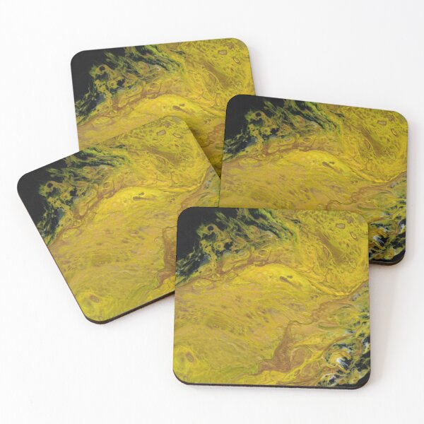 River of Gold Coasters (Set of 4)