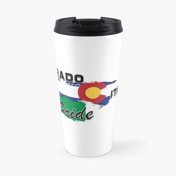 Colorado Italian Pride (Black Text) Travel Mug