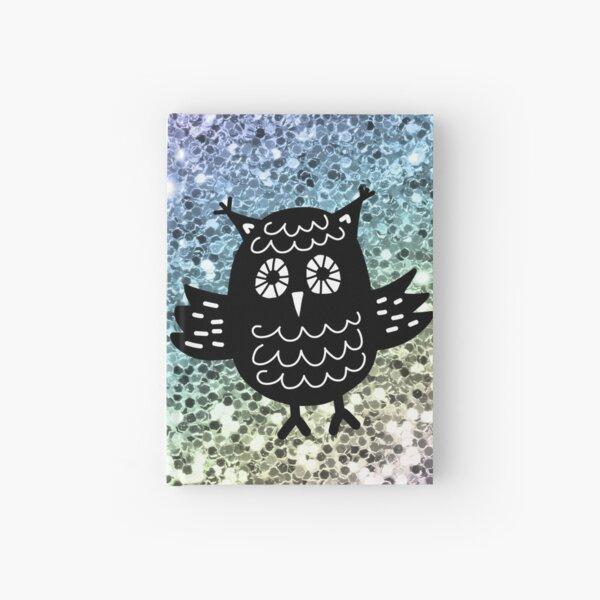 Black Owl Rainbow Glitter Love  Hardcover Journal