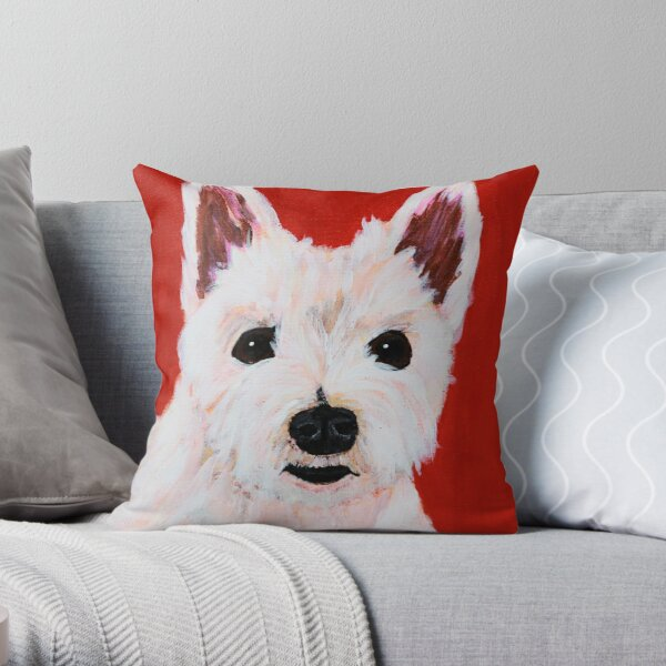 Romeo the Westie  Throw Pillow