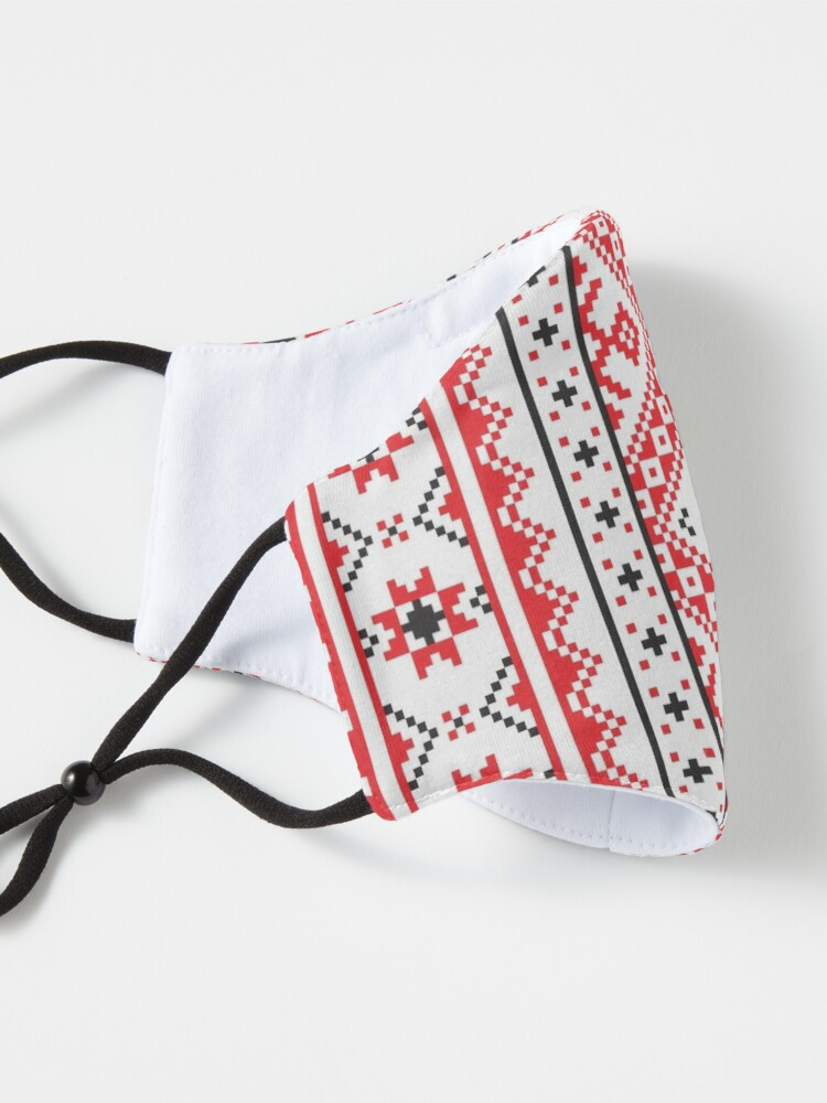 Alternate view of #Ukraine #Pattern - Ukrainian Embroidery: вишивка, vyshyvka #UkrainianPattern #UkrainianEmbroidery Mask