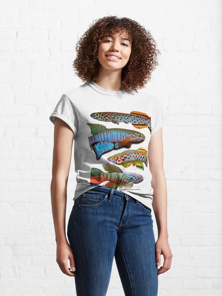 Alternate view of 4 African Killifish Classic T-Shirt