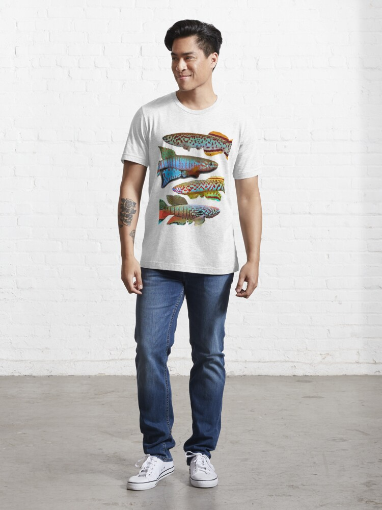 Alternate view of 4 African Killifish Essential T-Shirt