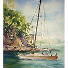 Smooth Sailing, original watercolor id1360060  by Almondtree