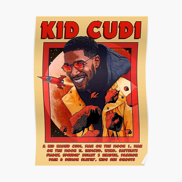 Cudi Singing Astronout Poster