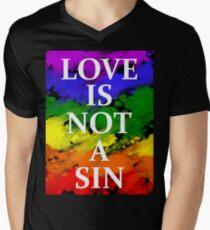 LOVE IS NOT A SIN Men's V-Neck T-Shirt