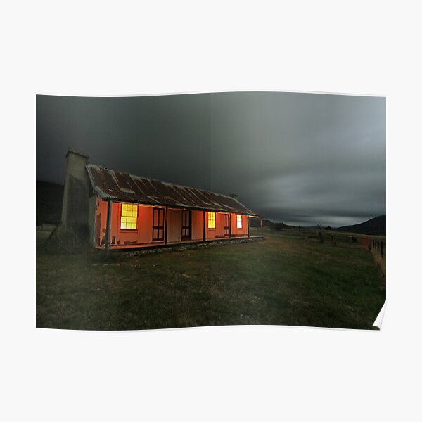 Orroral Valley Homestead, by night Poster