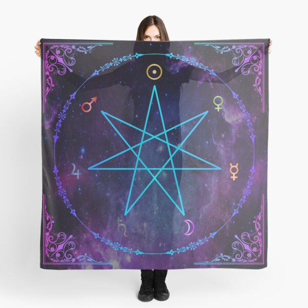 Traditional Planetary Magick - 7 Pointed Star (Classical Ancient Astrology) Scarf