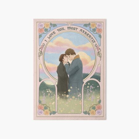 """Pride and Prejudice """" love you, most ardently"""" Art Board Print"""