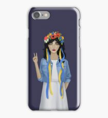 Jean Jacket Ukrainian iPhone Case/Skin