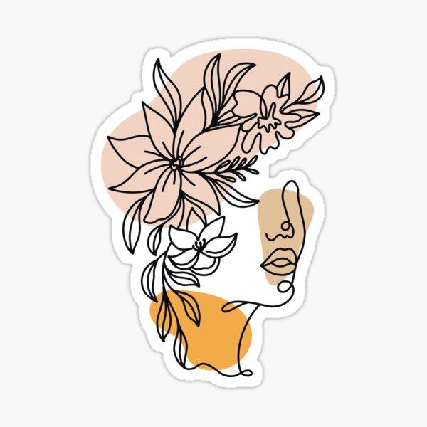 Plant Head Woman Sticker