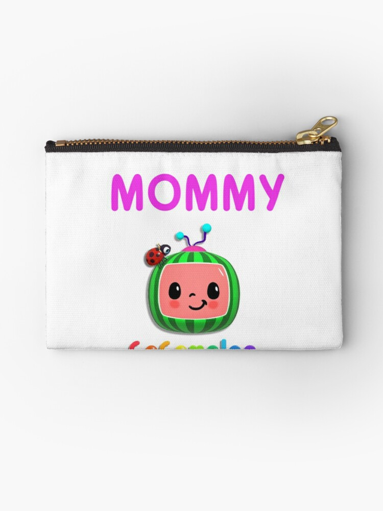 cocomelon nursery rhymes kids songs mask sticker zipper pouch by topasfashion redbubble