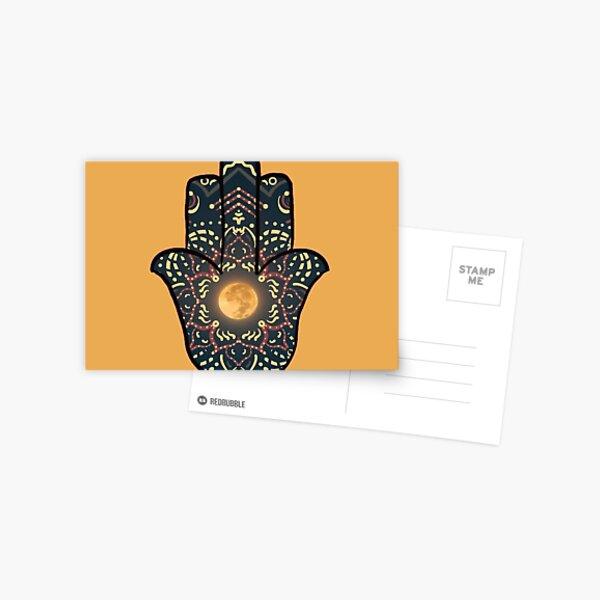 Moon Hand of Hamesh/ Hamsa Postcard