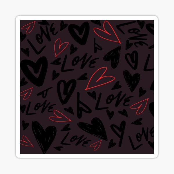 Love Hearts From The Heart Sticker