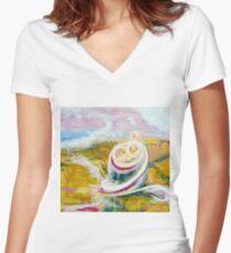 Beloved babies Women's Fitted V-Neck T-Shirt