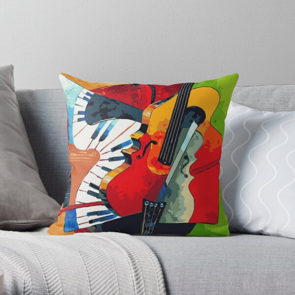 Picasso Music Throw Pillow