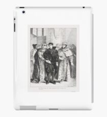 EUGENE DELACROIX,   (THE QUEEN TRIES TO CONSOLE HAMLET) (ACT I. SC. II), FROM SHAKESPEARE'S HAMLET iPad Case/Skin