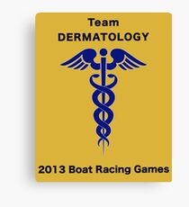 Team Dermatology - Boat Racing Games Canvas Print