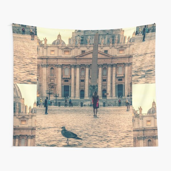 Vatican city masks basilica San Pietro Tapestry