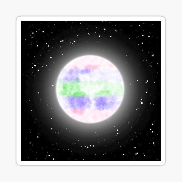 Trigender Moon Sticker