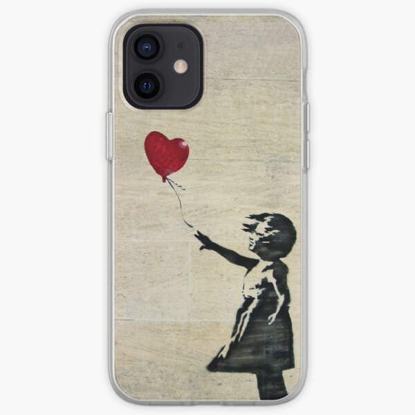 Banksy's Girl with a Red Balloon III iPhone Soft Case