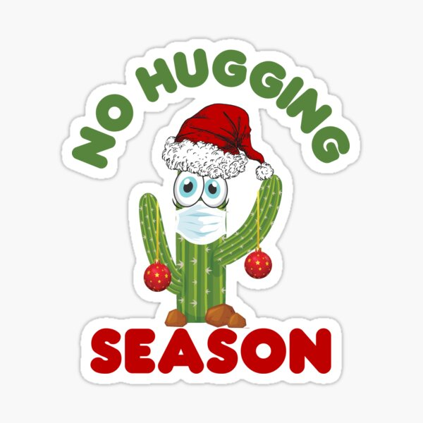 Custom Sticker Hug Sticker Anti-Valentine Not a Hugger Sticker Cactus Sticker Laptop Sticker Holiday Sticker Valentines Day Sticker
