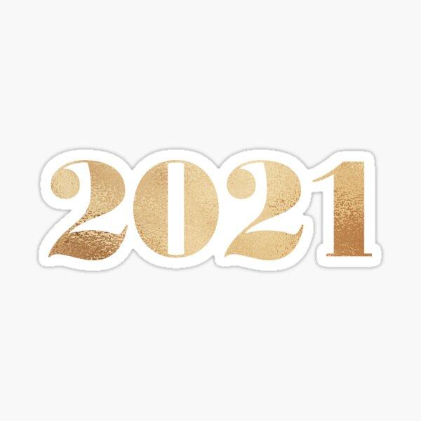 2021 - Golden Simple Typography Sticker