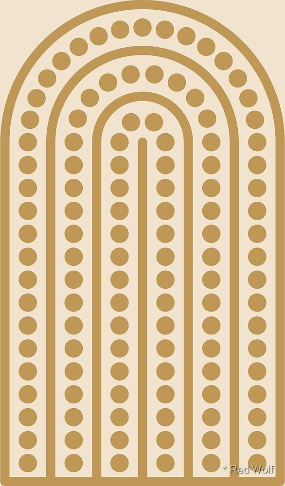 Geometric Pattern: Arch Dot: Creamsicle by * Red Wolf