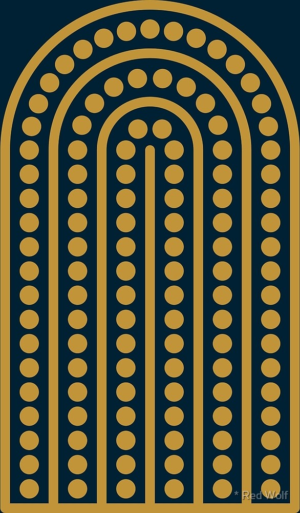 Geometric Pattern: Arch Dot: Luxe by * Red Wolf