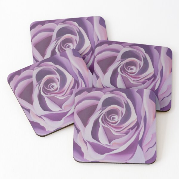Purple Petals Coasters (Set of 4)
