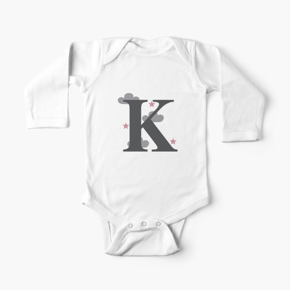 Baby Clothes Short Sleeve Name One Piece Monogram Baby Names Long Sleeve Initial Body Suit