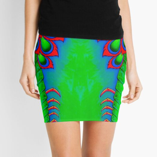 Electric Mantis Shrimp Mini Skirt