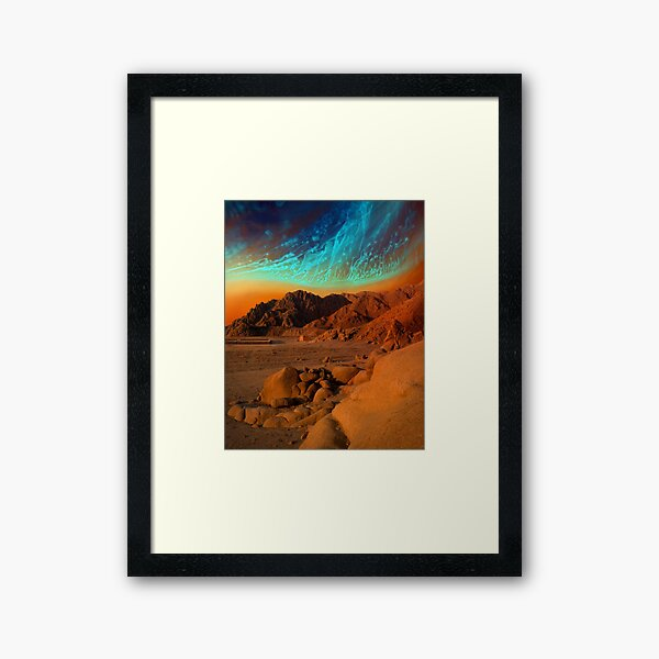 Home Away From Home - surreal landscape Framed Art Print