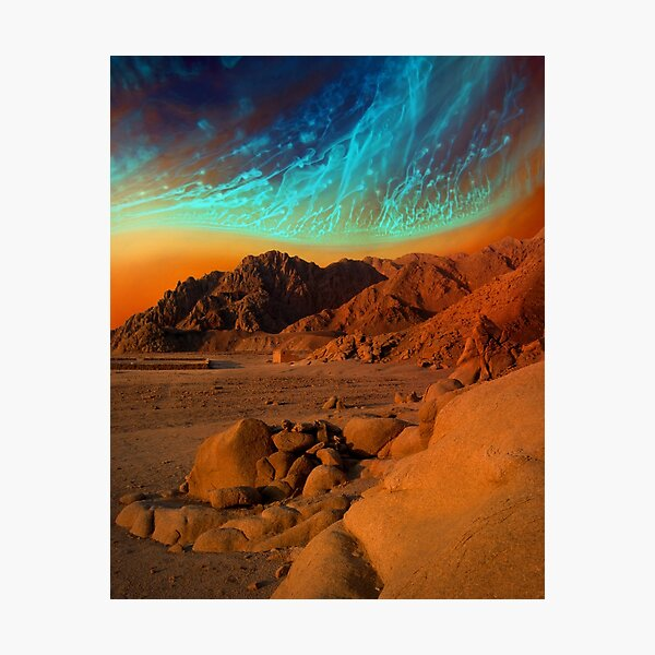 Home Away From Home - surreal landscape Photographic Print