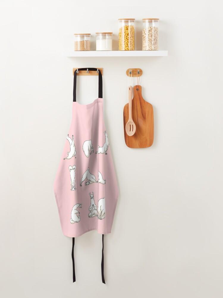 Alternate view of Yoga LLama in Pink Apron