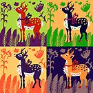 deer collage by soogie