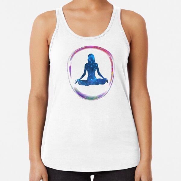 Woman in Meditation Racerback Tank Top