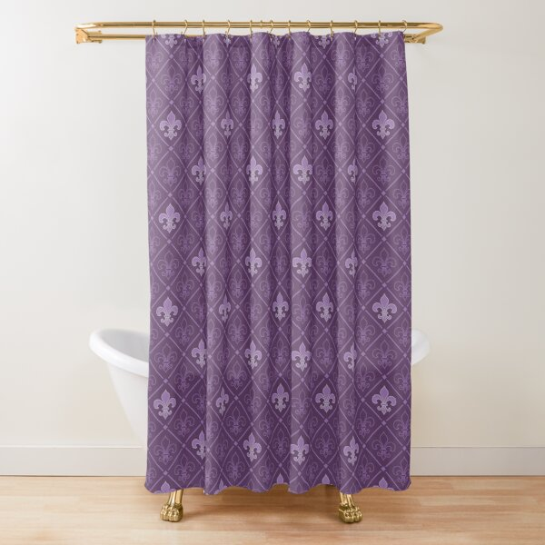 Lily hw5 purple Shower Curtain