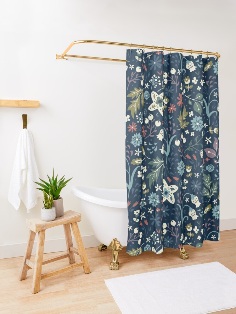 Alternate view of Wild Meadow Shower Curtain