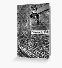 Palmer & Co, Abercrombie Lane. Greeting Card