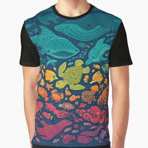 Aquatic Spectrum 2 Graphic T-Shirt