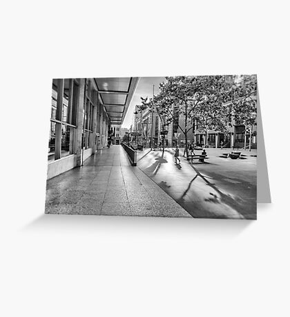 A Good Shadow Is Difficult to Resist - Martin Place - Sydney Greeting Card
