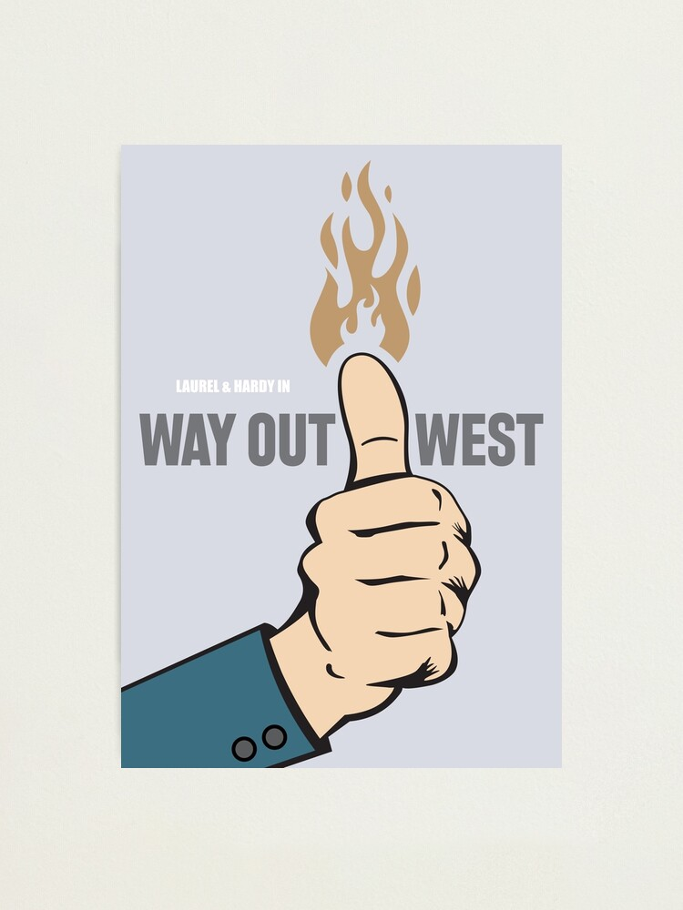 Alternate view of Way Out West - Alternative Movie Poster Photographic Print