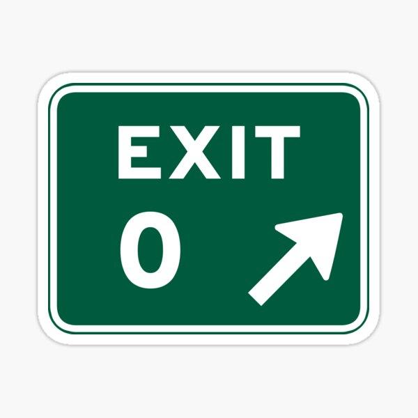 Exit 0 Sticker