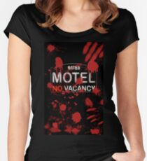 Bloody Bates Motel Women's Fitted Scoop T-Shirt