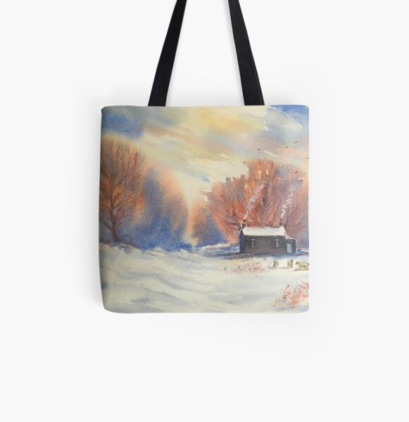 Winter Walk All Over Print Tote Bag